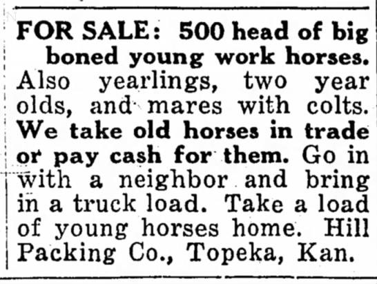 Trade horses