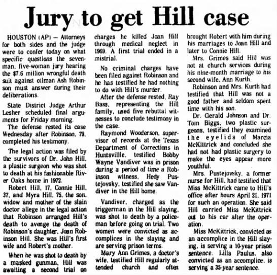 Former nurse says Hill treated McKittrick 1977