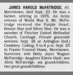 James Harold McFatridge obit