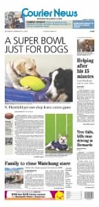 Sample The Courier-News front page