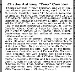 Charles Anthony 'Tony' Compton Obituary