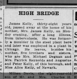 1913 - James Kelly Obituary