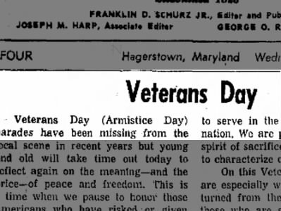 Sometimes Still Referred to as Armistice Day