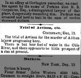 The Brooklyn Dail Eagle 13 Dec 1854 Trial of Arrison, etc.