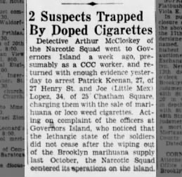 2 Suspects Trapped by Doped Cigarettes