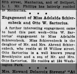 engagement of Miss Adelaide Schierenbeck