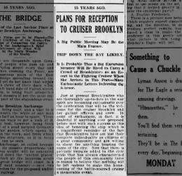 1923 AUG 4 SAT PG 9 REPRINT 25 YRS AGO RECEPTION FOR BRK