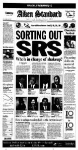 Sample Aiken Standard front page