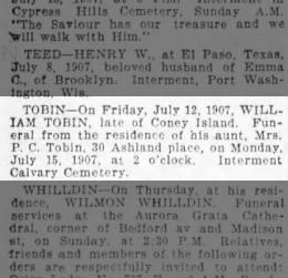 William Tobin Find A Grave Memorial# 170584573
