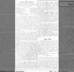 Feb.7, 1925 General review by Martin Dickstein