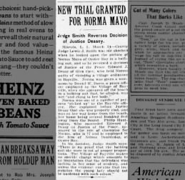 Trial over bathing suit in Bayville; peace officer Daniel W. Davis 1922