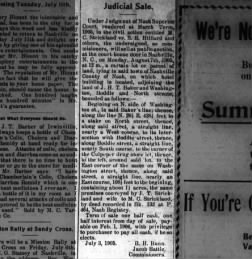 MC Strickland lawsuit, The Graphic, 6 July 1905 p2