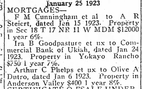 1923 - A Phelps to Olive Dutro mtg