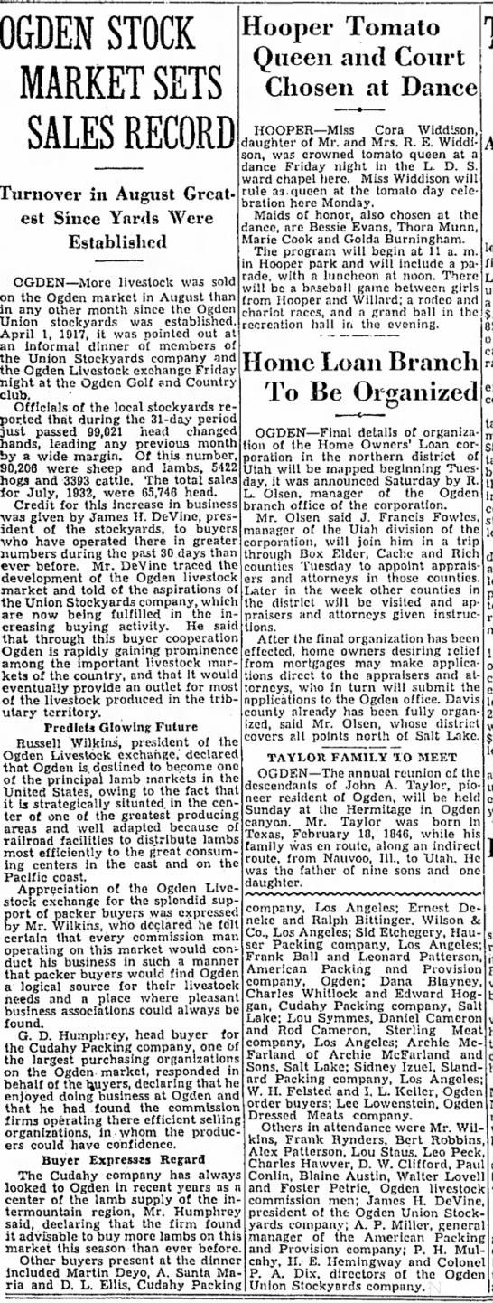 SL Tribune Sept 3, 1933