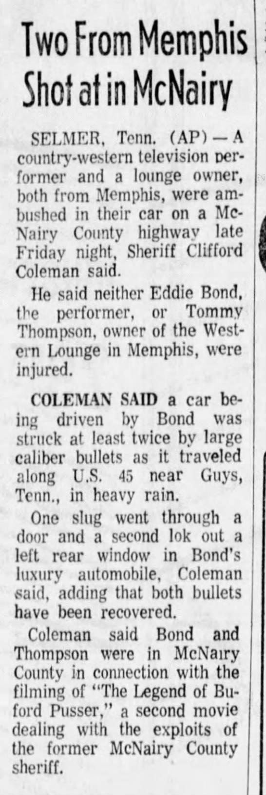 1974-05-05 TENNESSEAN Two From Memphis Shot at in McNairy_13A