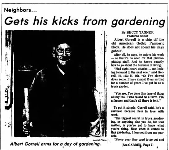 Albert Gorrell - The Salina Journal 10 May 1982 Page 1