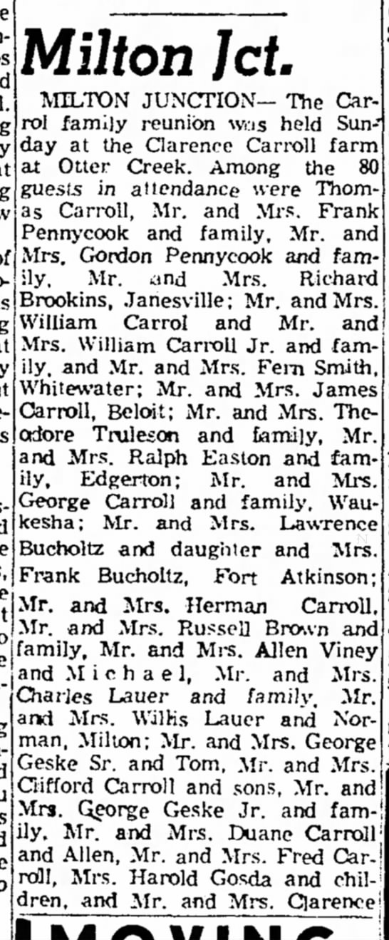 Carroll Reunion
