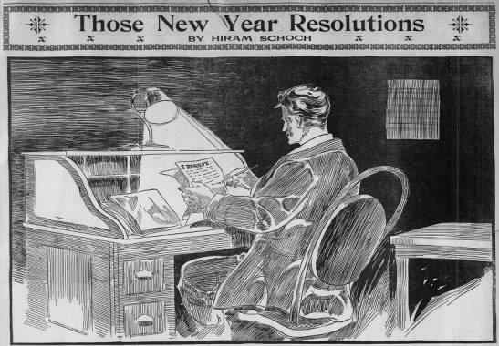 """""""Those New Year Resolutions,"""" 1910"""