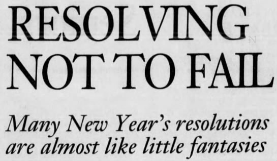 Resolving Not To Fail. 2003
