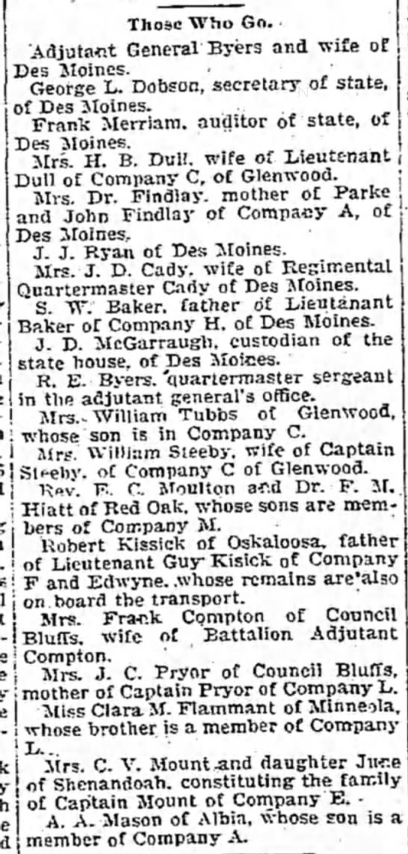 William Steeby, captain of Company C of Glenwood