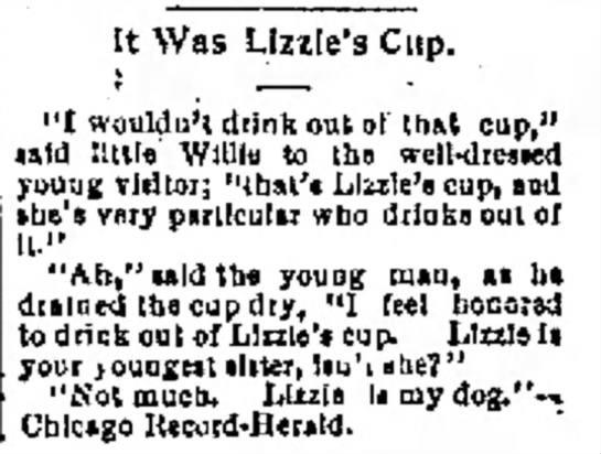 """""""That's Lizzie's Cup"""""""