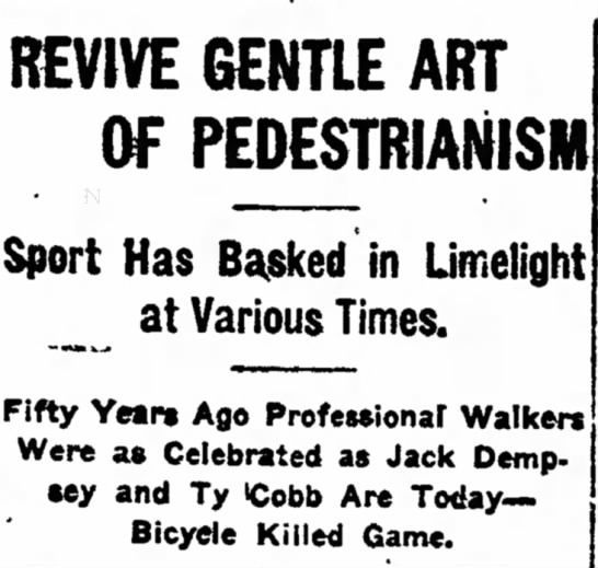 gentle art of pedestrianism