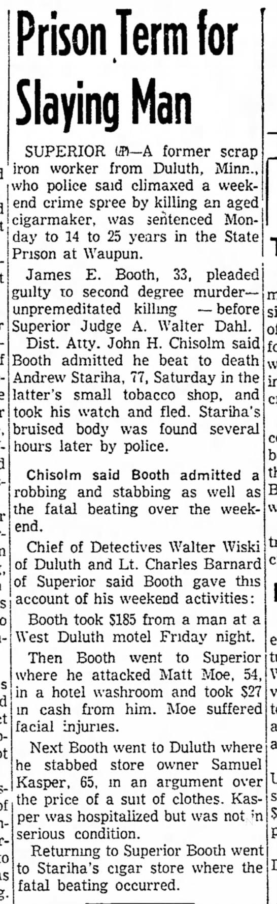 Waukesha Daily Freeman, Waukesha, WI Feb. 16, 1954; page 2.