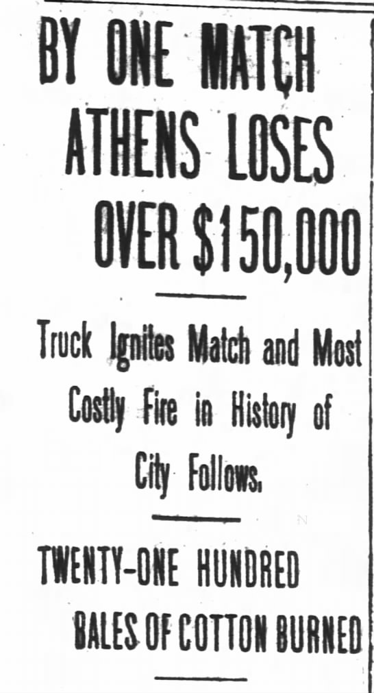 Most Costly Fire in History of Athens, Georgia