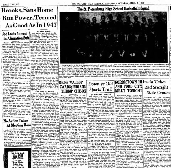 19480403 The Oil City Derrick (Oil City, Pennsylvania) Saturday, April 3, 1948 p12 CLIP