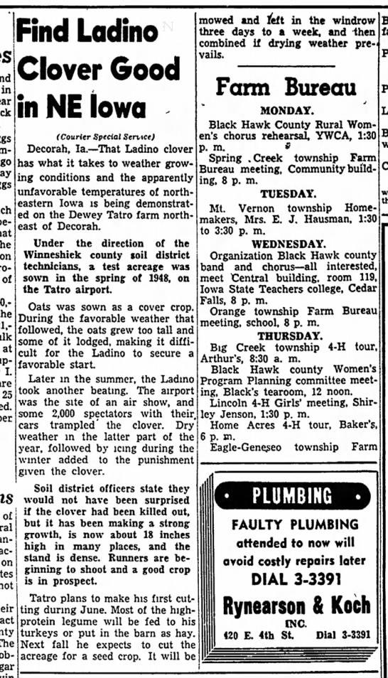 1949 The Mount Pleasant News 6.12.1949 1948 Decorah Air Show