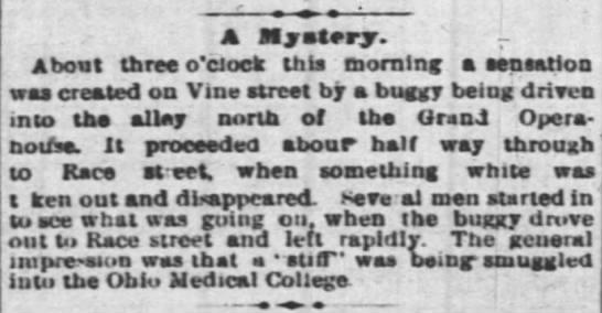 Cincinnati Enquirer item of May 30th, 1878.
