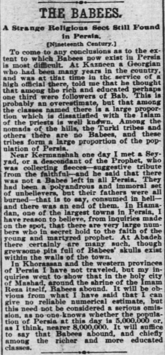 """attempt at estimating """"Babees"""" around 1896"""