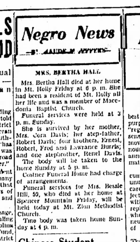 In North Carolina in 1951, news about African Americans  appeared in a different section.