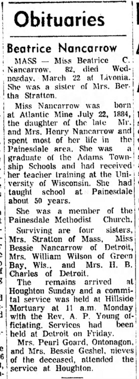 Beatrice Nancarrow 30 Mar 1967 Thurs pg 2