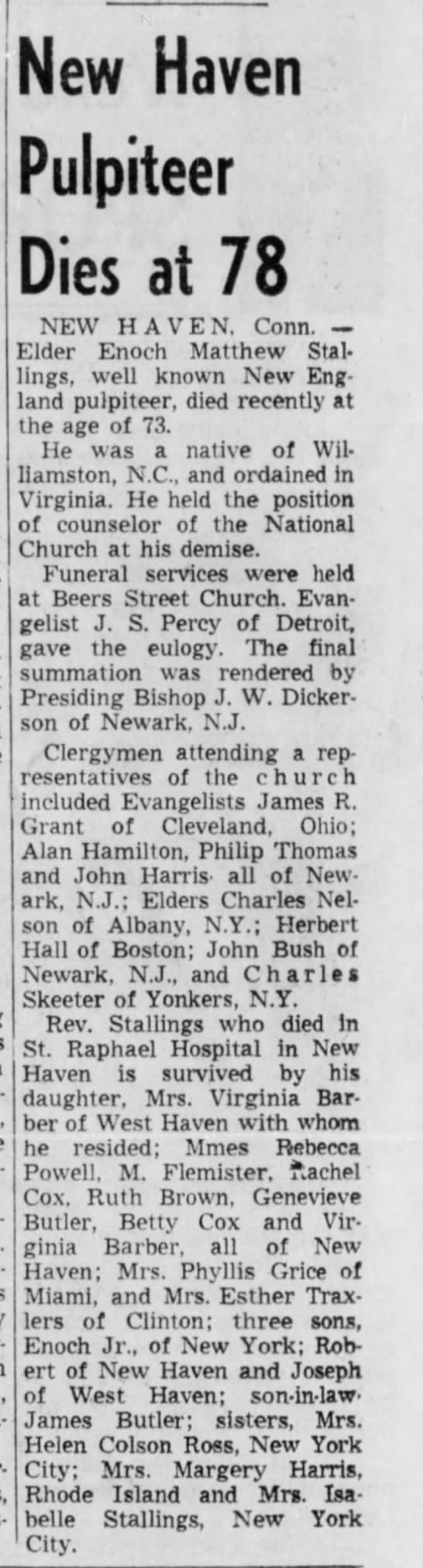 Granddad's newspaper notice of death The Pittsburgh Courier 7 August 1965