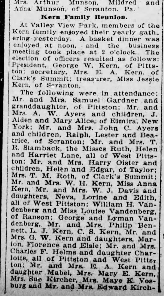 Harry Oister and Gladys Jones Oister, Scranton Truth, 22 Aug 1913