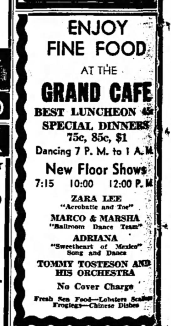 Grand Cafe ad