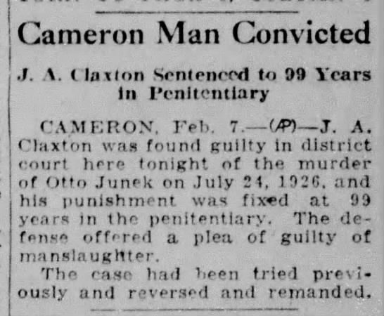 Convicted of Murder