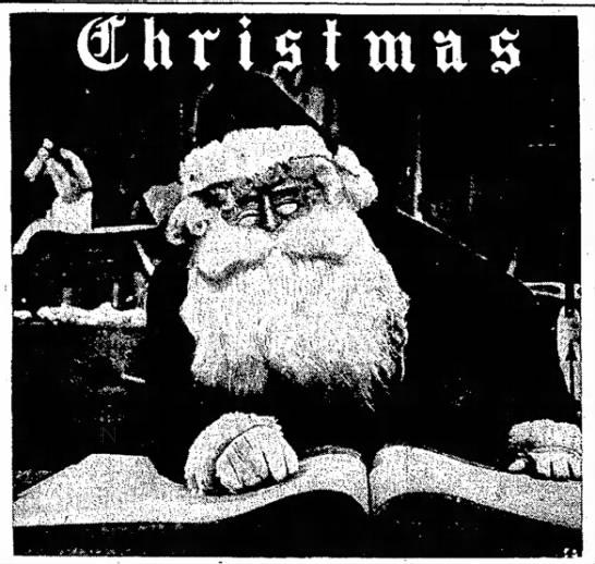 Christmas Santa 1952