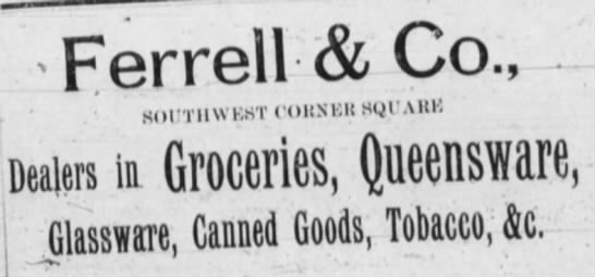 1892 Ferrell and Co ad