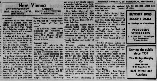 1964 New Vienna (Ohio) News - Nov.4