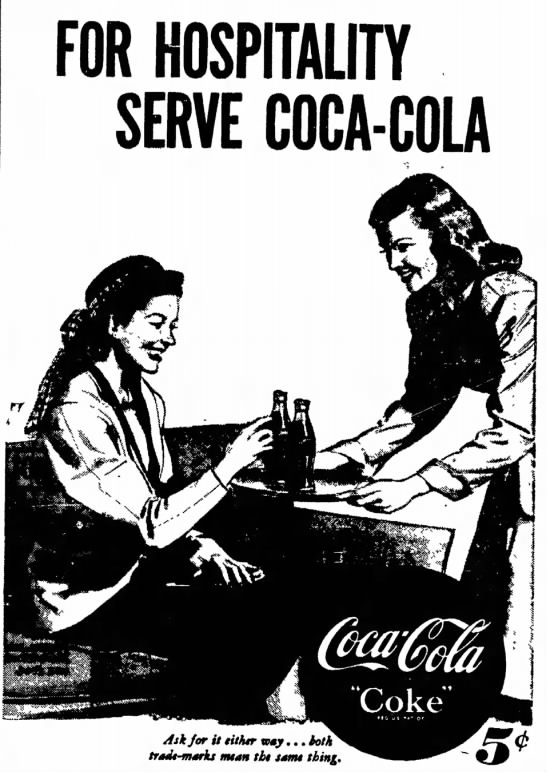 1948 Coca-Cola, The Hospitality Drink