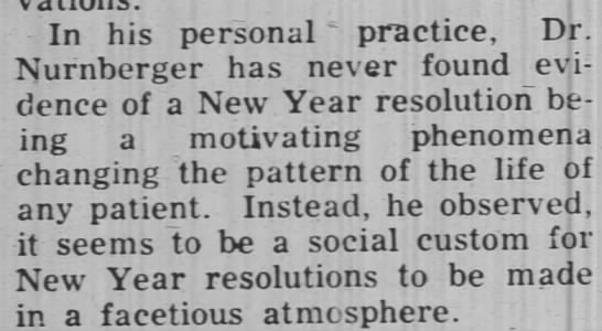 Dr. John Nurnberger has seen little evidence of the effectiveness of resolutions, 1957