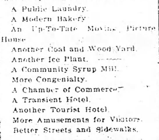 A Man's List of What His Small Town Needs