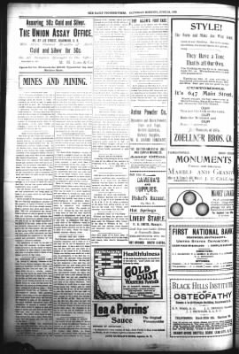 The Daily Deadwood Pioneer-Times from Deadwood, South Dakota on June 24, 1899 · Page 4