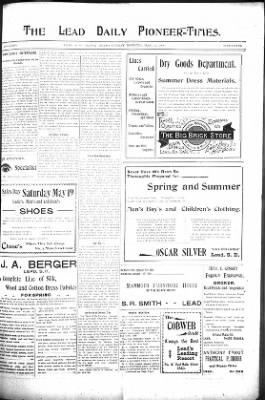 The Lead Daily Pioneer-Times from Lead, South Dakota on May 13, 1900 · Page 7