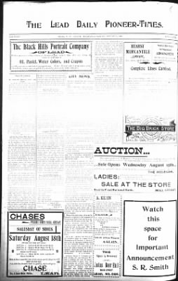 The Lead Daily Pioneer-Times from Lead, South Dakota on August 15, 1900 · Page 6