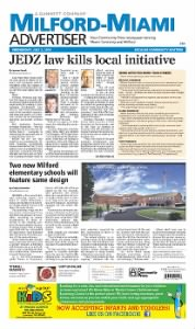 Sample Milford Advertiser-Press front page