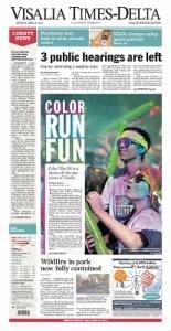 Sample Visalia Times-Delta front page