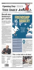 Sample The Daily Journal front page